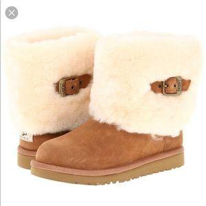 UGG K Ellee Buckle Boots Little Kids Chestnut